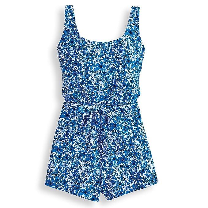 62b68901c3 Blair Women's Boyleg Swimsuit - 20 Regatta Blue Floral: Amazon.ca ...