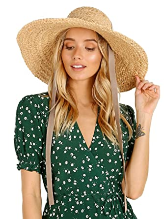 9b47ee767c5310 Amazon.com: Janessa Leone Gaby Fedora Natural: Clothing
