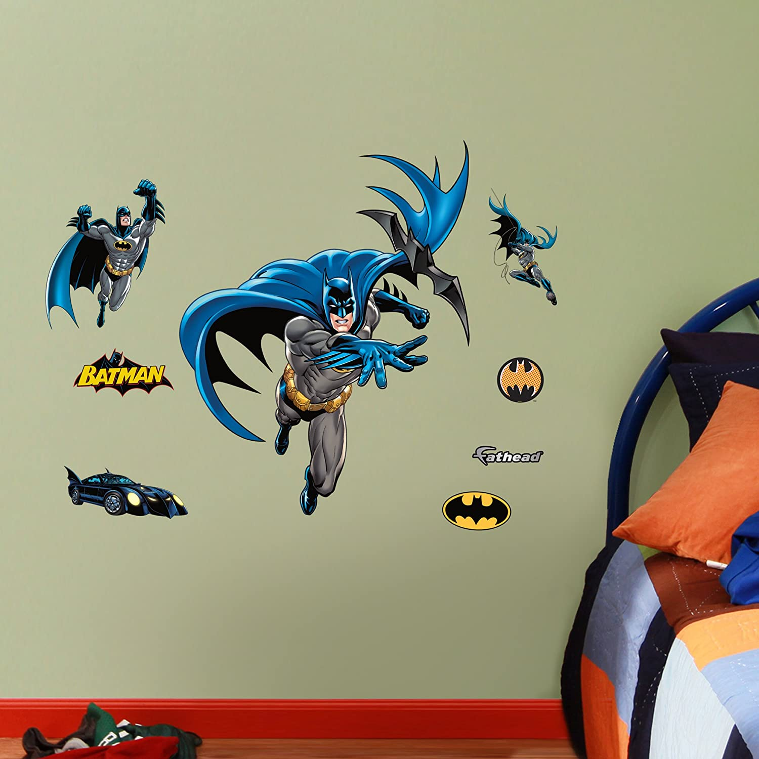 Amazon fathead batman in action fathead jr graphic wall amazon fathead batman in action fathead jr graphic wall dcor home kitchen amipublicfo Image collections