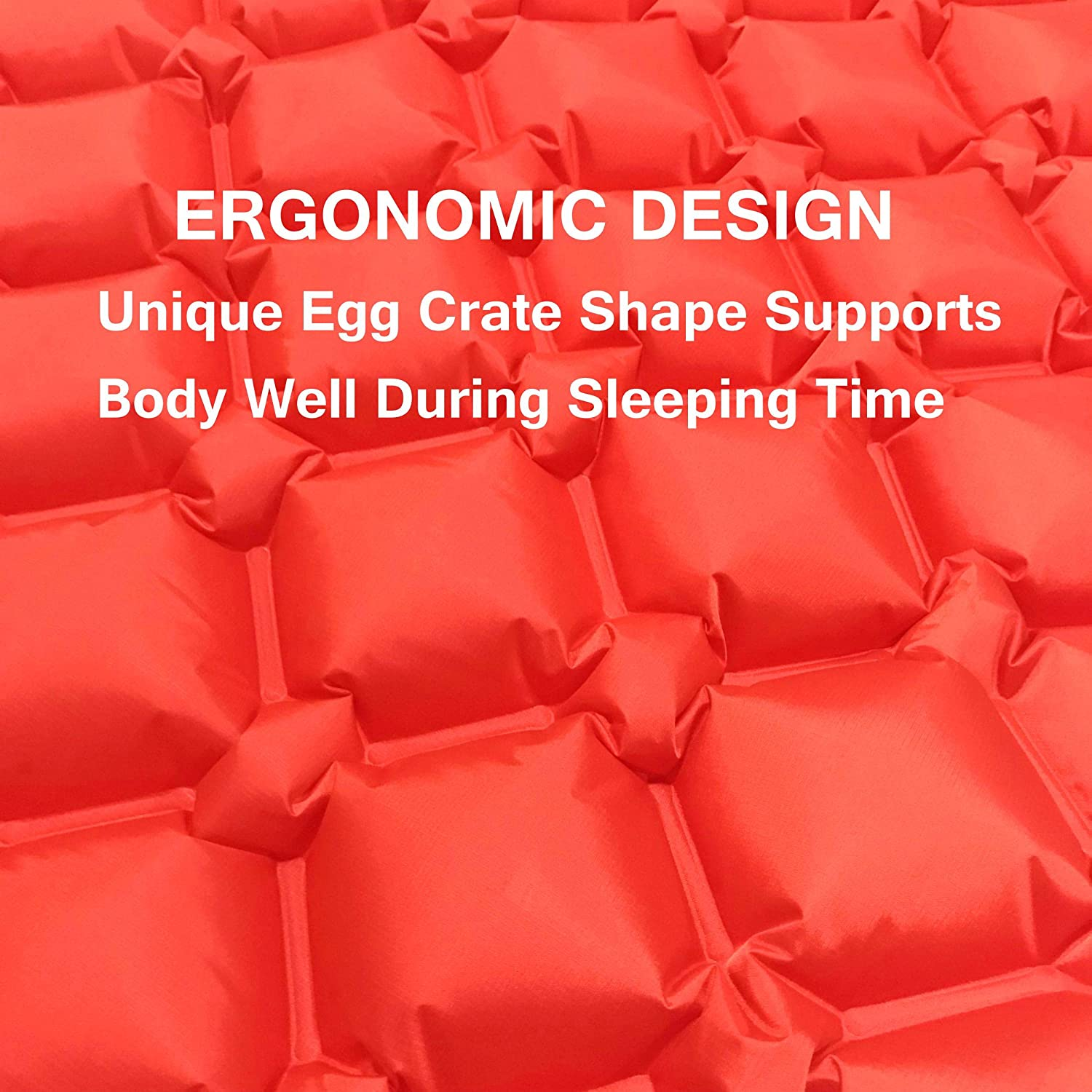 Inflatable Ultralight Cushion Stable Air Cell Design Green Red Green A Yue Camping Sleeping Pad