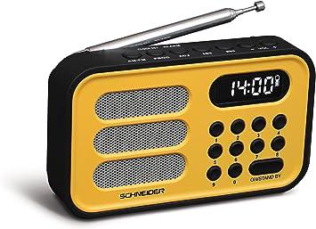 Schneider SC150ACL - Radio Digital Handy Mini, Color Amarillo