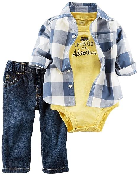 Amazon.com: Del Carter bebé Boys 3 piezas Camisa Set: Clothing