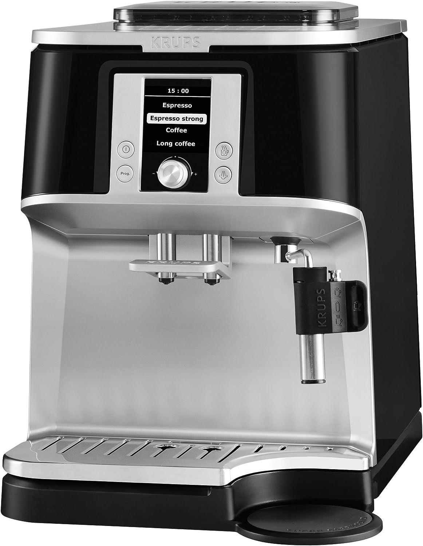 Krups EA 8340 Independiente Totalmente automática Máquina espresso 1.7L 12tazas Negro, Acero inoxidable - Cafetera (Independiente, Máquina espresso, 1,7 L, Molinillo ...