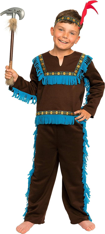 Magi Coo marrón Indios Disfraz Infantil niño con Cabeza Joyas ...