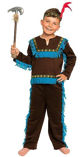 Magicoo Braunes Indianer Kostum Kinder Jungen Mit Kopfschmuck Grossen