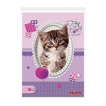 Herlitz Pretty Pets – Libreta/DIN A6/cuadros/Gato