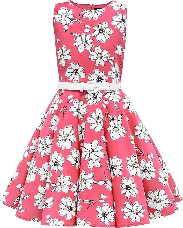 60s 70s Kids Costumes & Clothing Girls & Boys BlackButterfly Kids Audrey Vintage Daisy 50s Girls Dress $30.99 AT vintagedancer.com