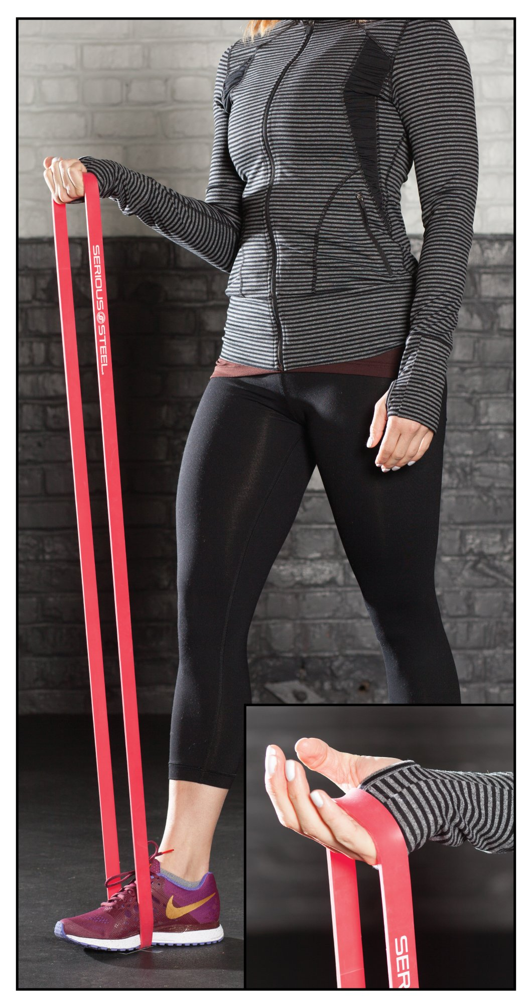 Serious Steel Fitness Beginner Assisted Pull-up &Crossfit Resistance Band Package#2, 3 Band Set (10-80 lbs) Free Pull-up and Band Starter e-Guide by Serious Steel Fitness (Image #6)