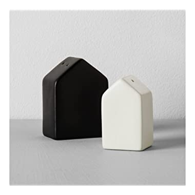 Hearth & Hand with Magnolia House Salt Pepper Set Joanna Gaines Collection Black Cream