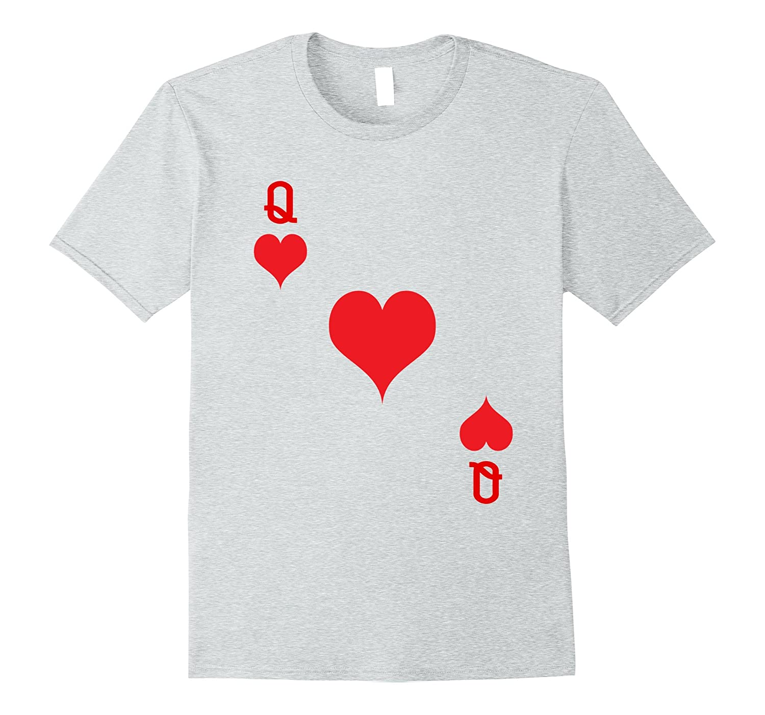 Queen Of Hearts T-Shirt Playing Card Tee | Halloween Costume-FL