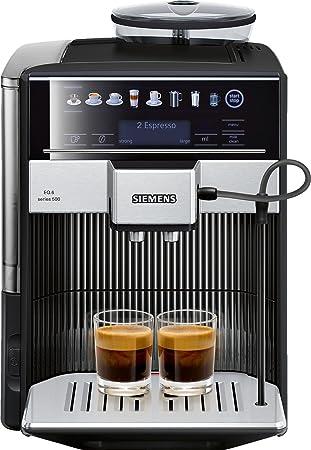Siemens TE605209RW cafetera automatica 1500 W, 1.7 litros, Acero Inoxidable, Negro: Amazon.es: Hogar