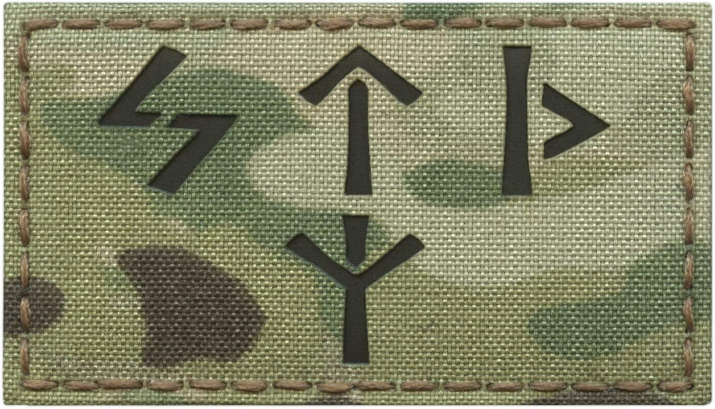 IR Multicam Russian Spetsnaz FSB 2x3.5 Russia Special Forces KGB IFF Infrared Tactical Morale Hook-and-Loop Patch