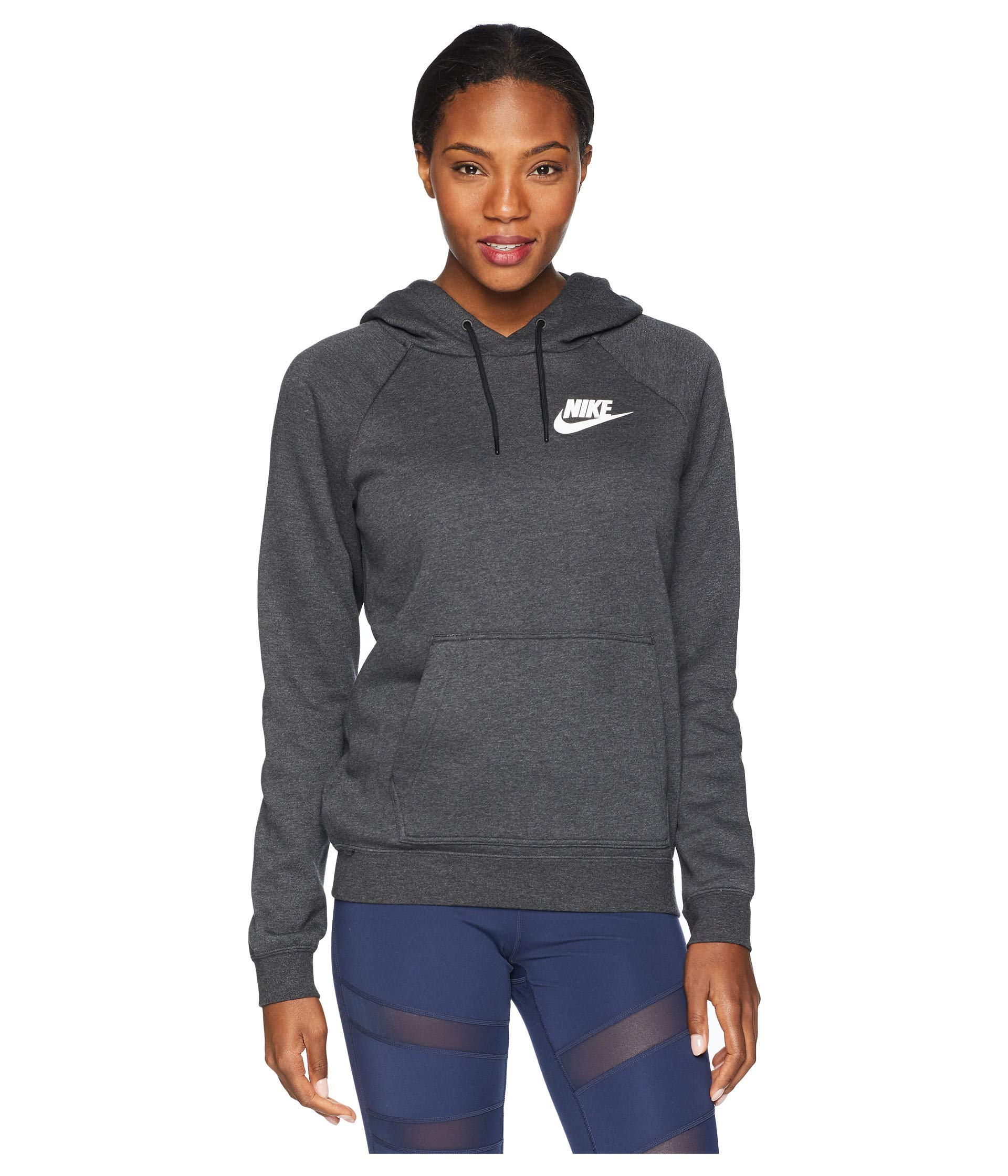 NIKE Women's Sportswear Rally Hoodie (Black Heather/X-Small)