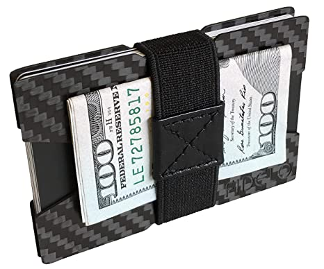 c0f3164f276677 FIDELO Carbon Fiber Minimalist Wallet - Slim Credit Card Holder Money Clip  Wallets for Men -