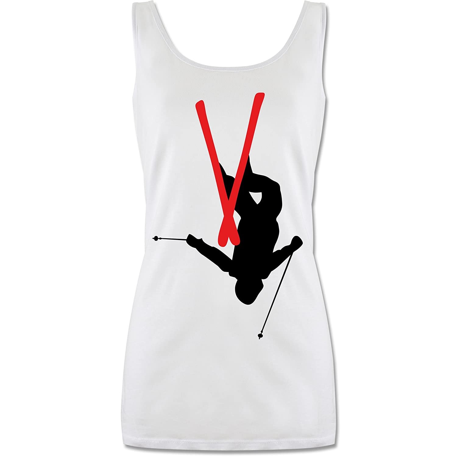 Wintersport - Freestyle Skiing - Freestyle Ski Tricks - lang-geschnittenes Tanktop für Damen