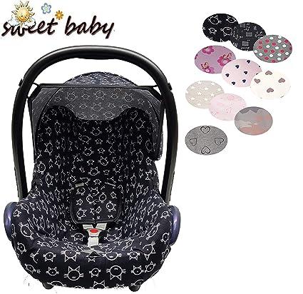 Sweet Baby ** Set of 3 ** Funda + Capota + Cinturón acolchado para Maxi-Cosi Cabrio, Pebble..