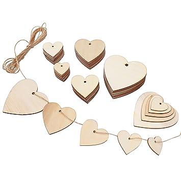 50Pcs//set Large Birch Tree Hearts Shape Rustic Bridal Craft Wedding Decoration
