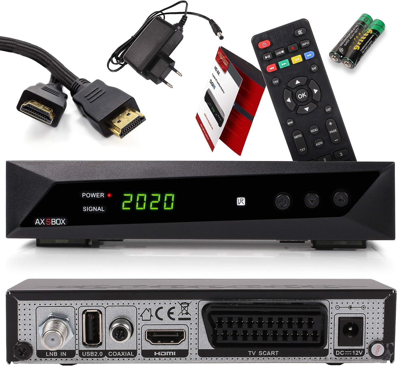 Opticum SBOX con PVR Receptor Satélite HD y Reproductor Multimedia - Descodificador Satélite HD 1080p para TV DVB-S/S2 - Astra y Hotbird Preinstalados ...