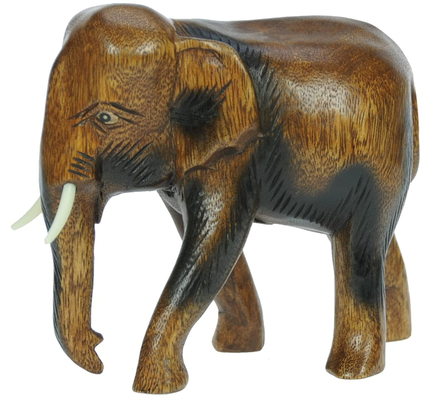 Wooden animals ornaments - Hand Carved Wooden Elephant Ornament Top Christmas And Birthday Gift Idea High Quality Traditional