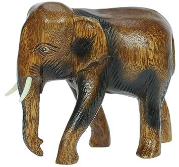 Elefant   Wohnzimmer Schlafzimmer Holz Deko   Wunderschöne Skulptur Figuren  Statue U2013 Handwerkskunst   Höhe 19cm