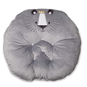 Boppy Preferred Newborn Lounger, Gray Royal Lion