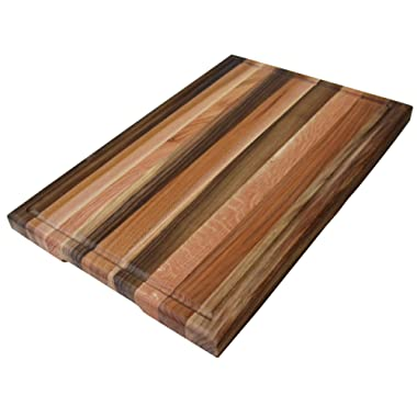 Cutting Board 20 x 15 x 1.2 inches Edge Grain Chopping Block with Juice Groove Wood: Walnut, Ash-tree, Oak, Red Oak, Maple, Cherry Hardwood Extra Thick Serving Platter Durable & Resistant