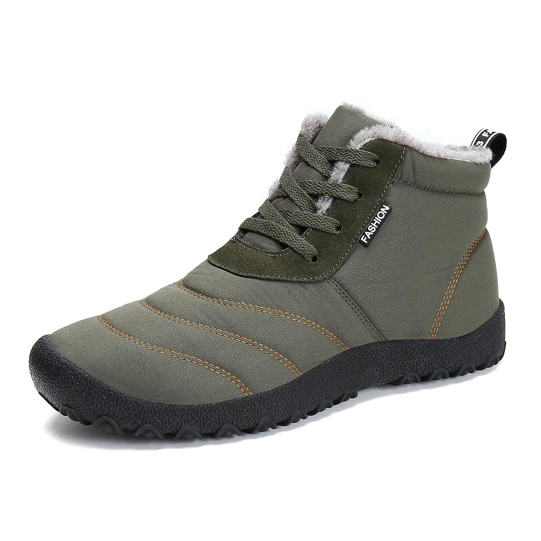 Voovix Women's Snow Boots Winter Warm Fur Lined Ankle Booties Waterproof Non Slip Outdoor Shoes