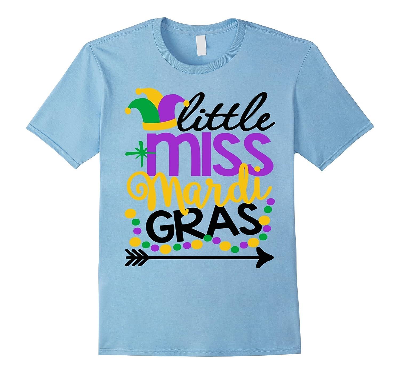 Little Miss Mardi Gras Shirt Daughter Cute Kids Girls