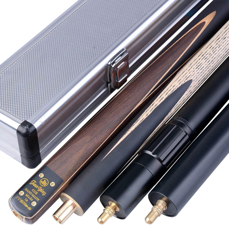 JY Cues T2MA7 - Taco de snooker hecho a mano (144,8 cm, desmontable en 3 o 4 piezas, extensible, incluye funda) (TSC8) Mark Richard T3SC8