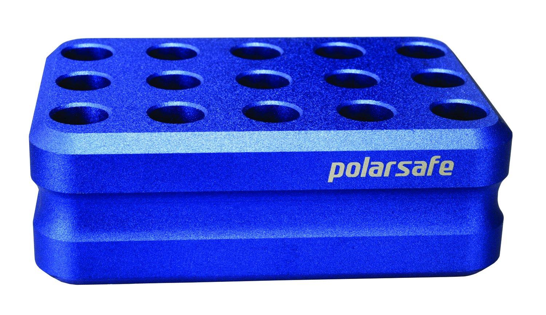 Argos Technologies CB15 Polarsafe Aluminum Cooling Block 15-Well for 1.5-2.0 mL Tubes, Blue