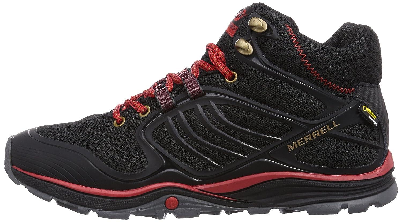 Merrell Verterra Mid Sport Gtx - Zapatillas De Senderismo para hombre, color black/red, talla 48