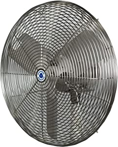 "Schaefer 24CFO-SWDS 24"" Washdown Duty Circulation Fan, Industrial Made in USA, 1/4 HP, 5670CFM, Stainless Steel"