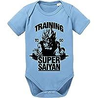 Tee Kiki Goku SS Body Dragon de algodón orgánico Ball Son Proverbs Baby Romper para niños y niñas de 0 a 12