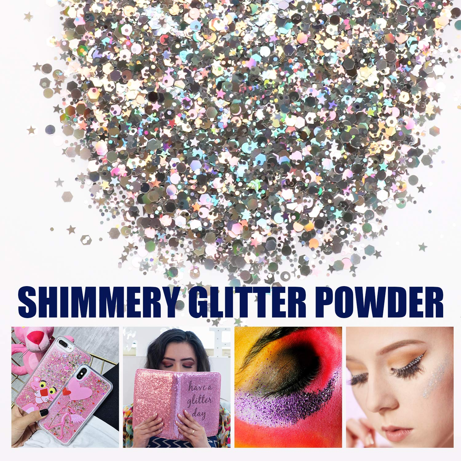 Mica Powder 30 Colors Pigments Glitter Epoxy Resin Dye for Soap Candle Cosmetic Eyeshadow Makeup Nail Slime Paint Bath Bomb, 0.35oz Per Color