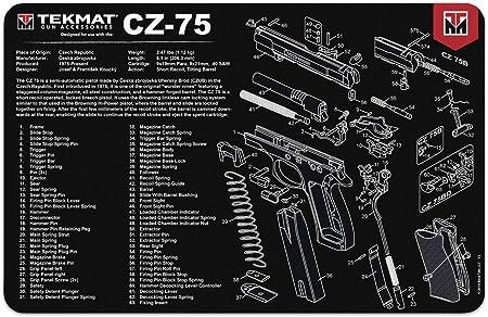 TekMat Tappetino per la Pulizia con Esploso Parti CZ-75-43x28cm