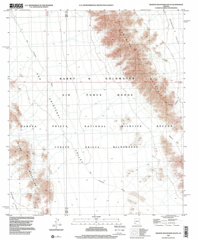 Map Of South Arizona.Amazon Com Yellowmaps Granite Mountains South Az Topo Map 1 24000