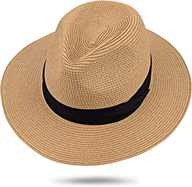 STRAW PANAMA HAT CRUSHABLE AND PACKABLE CLASSIC STYLED SUMMER HEADWEAR