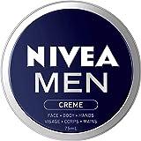 NIVEA Men Crème For Face, Body and Hands (75mL), NIVEA Moisturizer for All Skin Types, Face Cream, Hand Cream, Carefully Craf