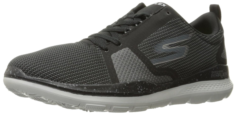Performance Mens Go Flex Train-54825 Walking Shoe,Black/Gray,10 M US Skechers