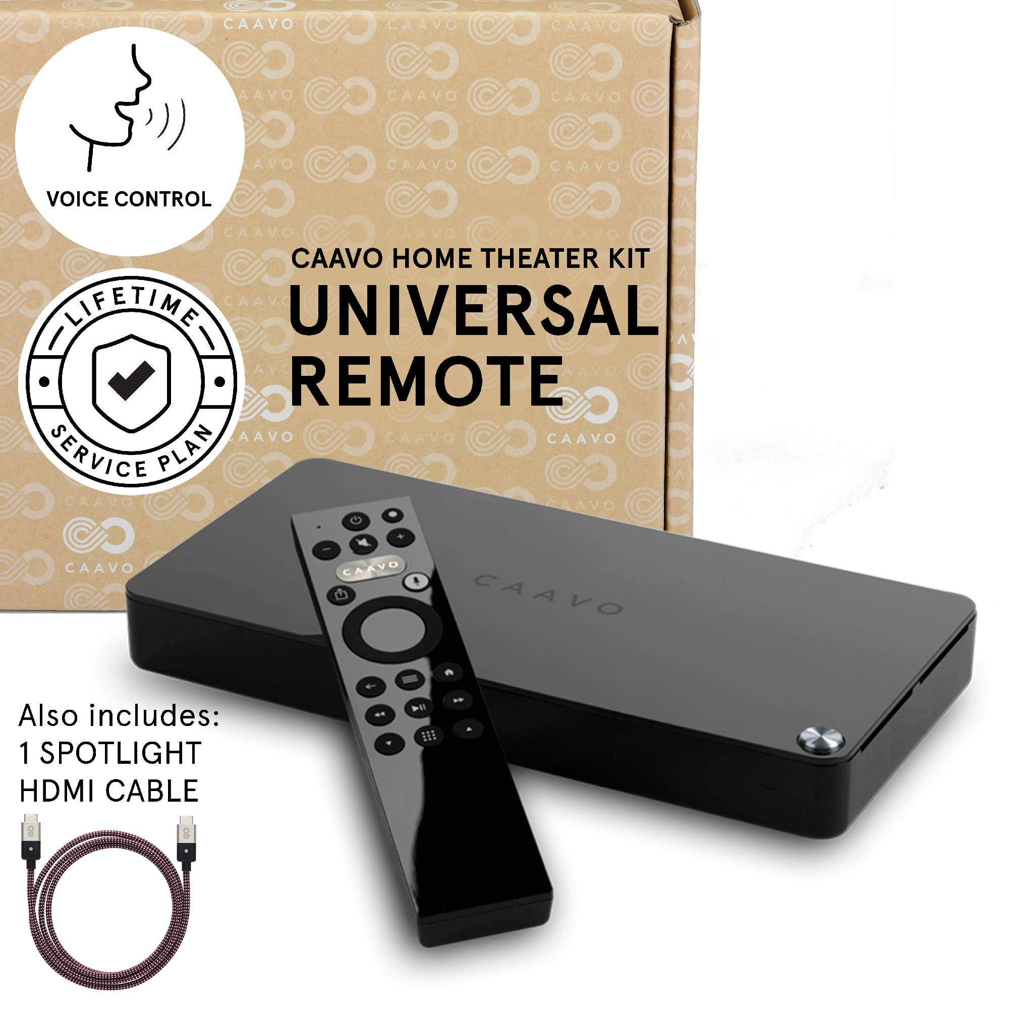Caavo Control Center PLUS LIFETIME PLAN, Universal Remote Home Theater Hub with Voice Control works with Roku, Apple TV, nVidia Shield, Streaming Sticks, Sonos, Xbox One, PS4 and other A/V Devices by Caavo (Image #1)
