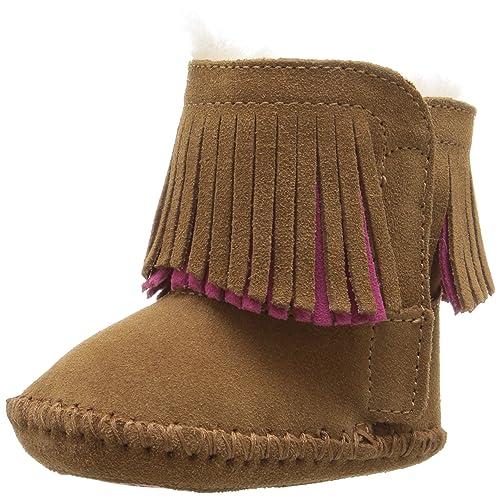 UGG Australia Branyon Fringe, Botines Unisex Niños, Marrón Chestnut, 17 EU: Amazon.es: Zapatos y complementos