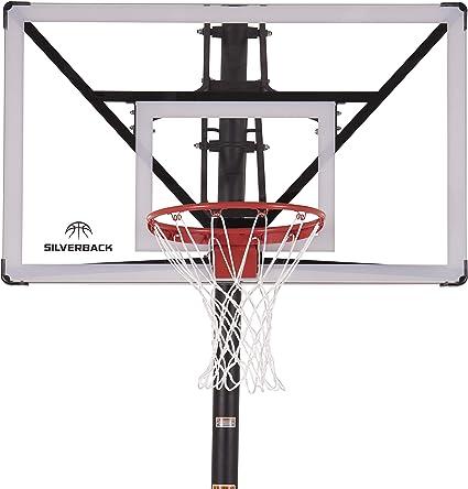 Amazon.com: Silverback NXT - Aro de baloncesto con altura ...