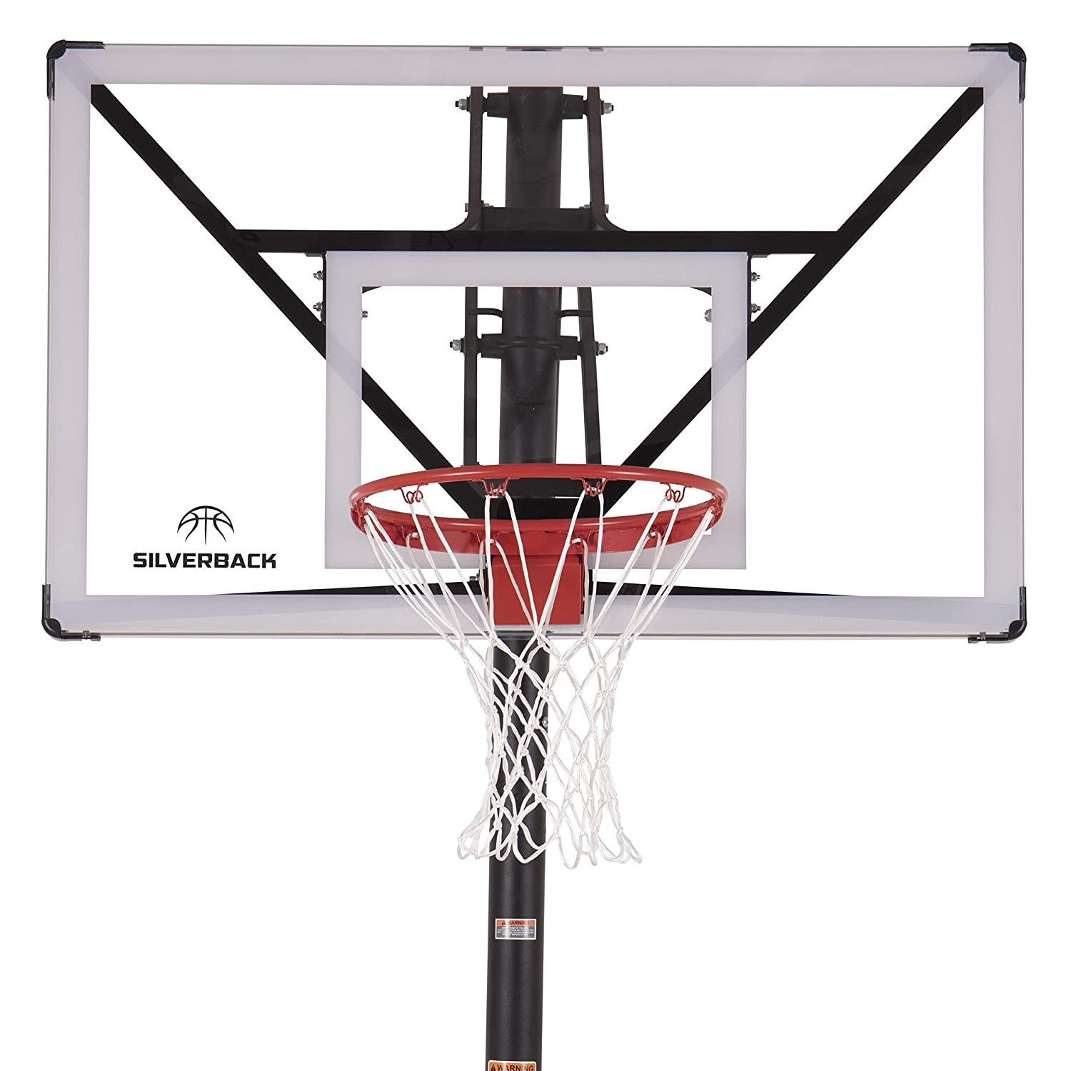 "Silverback NXT 54"" In-Ground Basketball Hoop with Adjustable-Height Backboard and QuickPlay Design"
