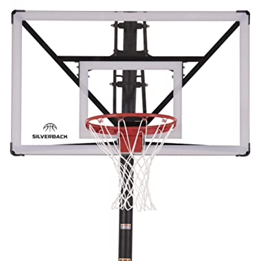 Silverback NXT 54  In-Ground Basketball Hoop with Adjustable-Height Backboard and QuickPlay Design