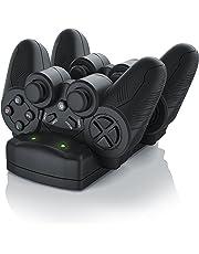 CSL - Stazione di ricarica per gamepad Sony Playstation PS3 / PS3 Move / PS4   Dual Controller Charger / Caricatore / Docking-Station / Dual Charging Station con alimentatore