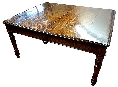 Tavolo da pranzo 1800 restaurato in ciliegio e castagno massello ...