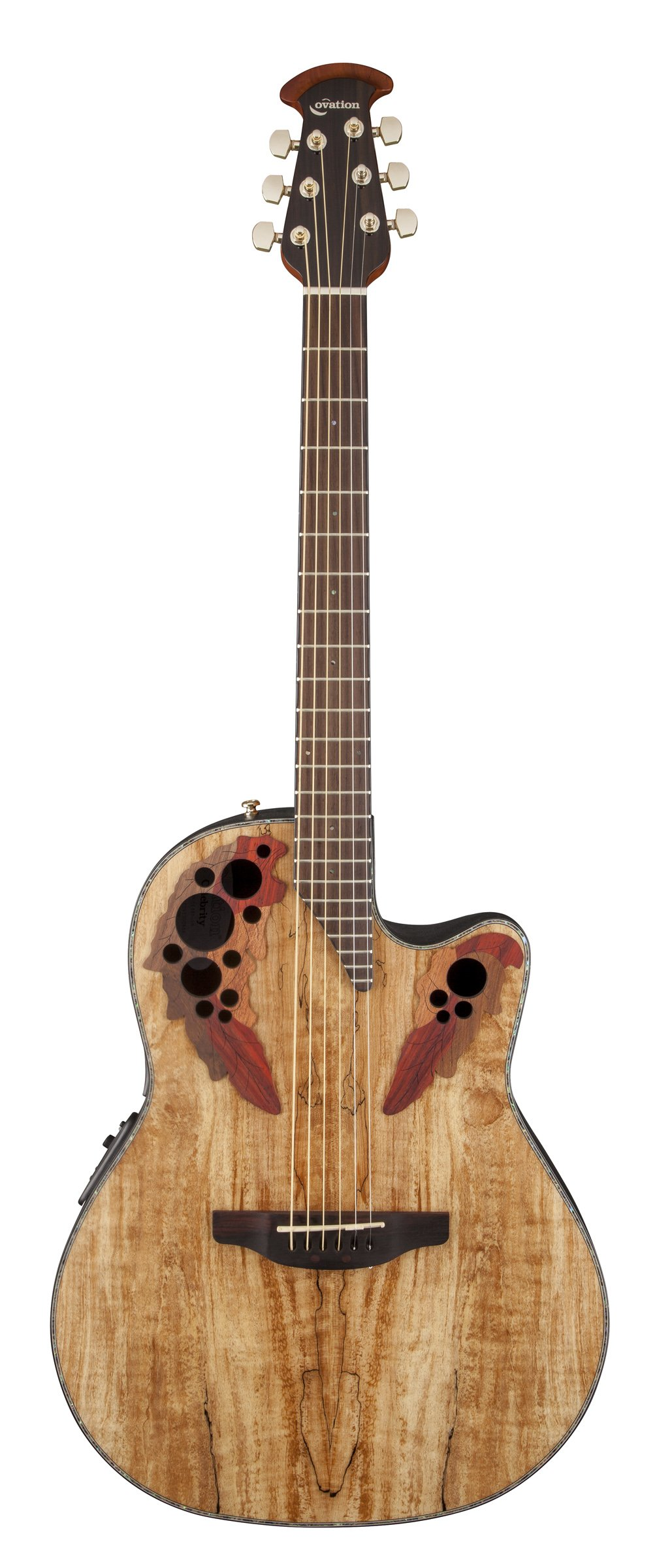 Ovation CE44P-SM Acoustic-Electric Guitar, Spalted Maple