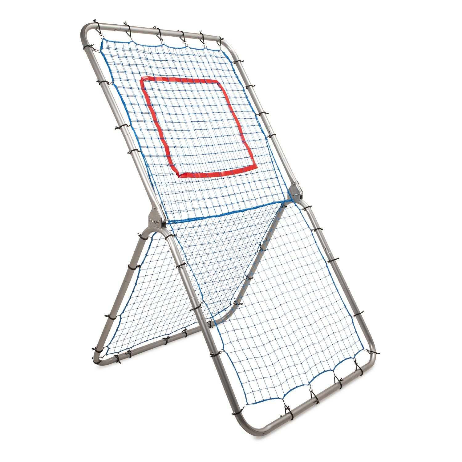 Champion Sports Rebound Pitchback Net: Adjustable Training Practice Rebounder Bounceback Screen for Baseball, Softball, Lacrosse, Soccer, Basketball by Champion Sports