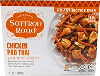 product image for Saffron Road, Chicken Pad Thai With Rice Noodles, 11 oz (Frozen)