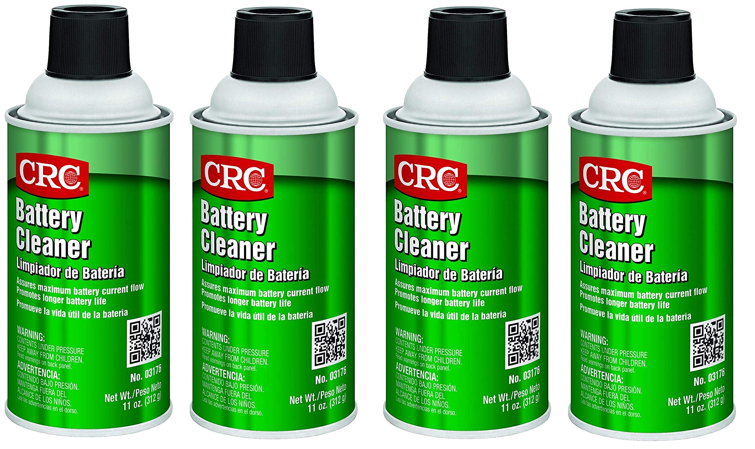 CRC  Battery Cleaner, 11 oz Aerosol Can, Clear (4)